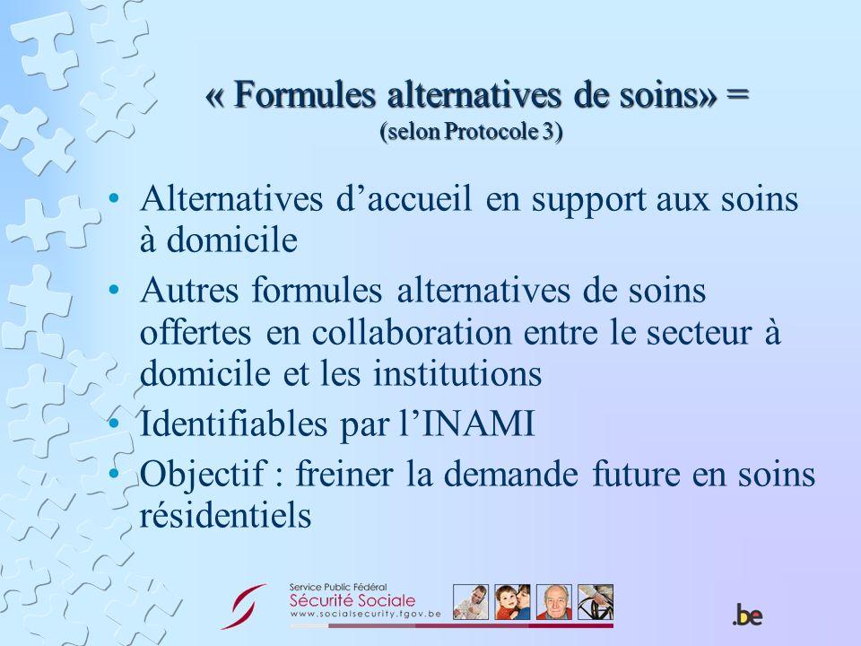 « Formules alternatives de soins» = (selon Protocole 3)