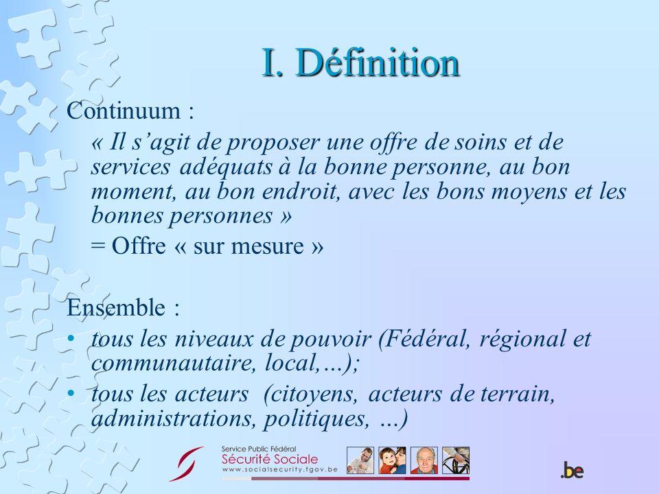 I. Définition Continuum :