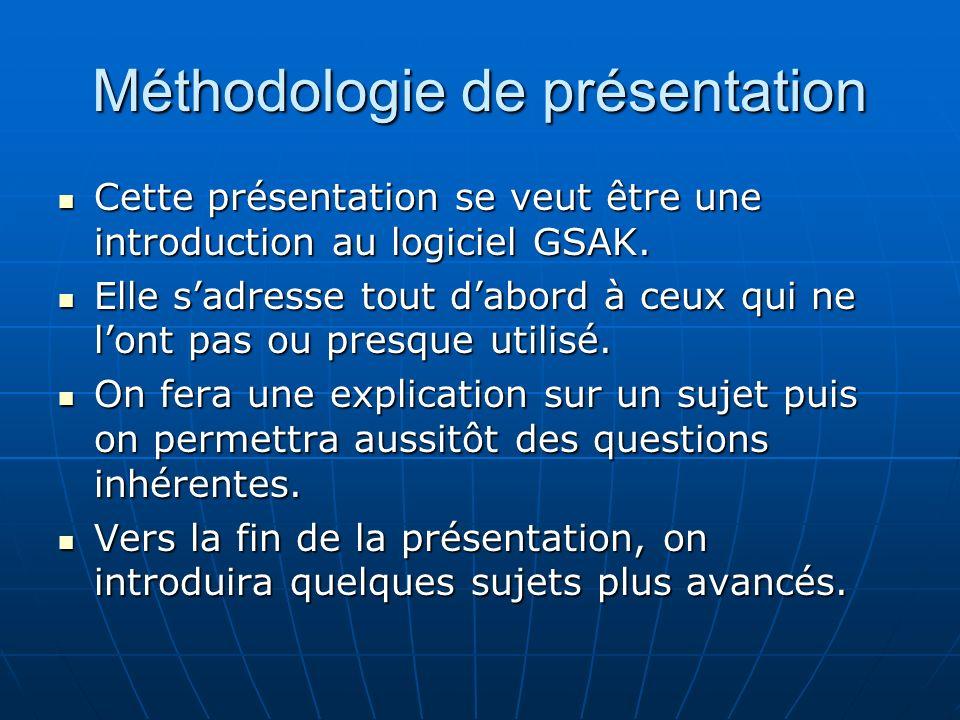 Méthodologie de présentation