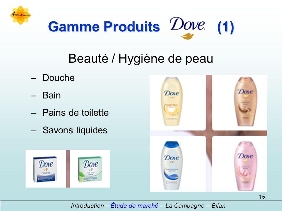 Gamme Produits (1) Beauté / Hygiène de peau Douche Bain