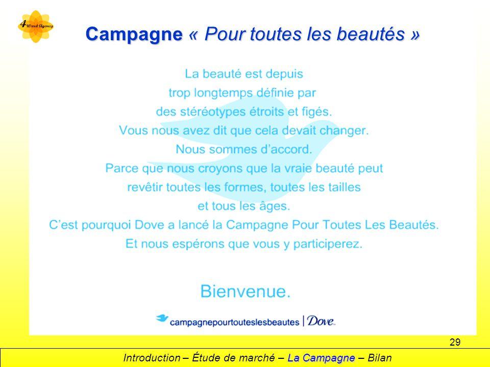 Campagne « Pour toutes les beautés »