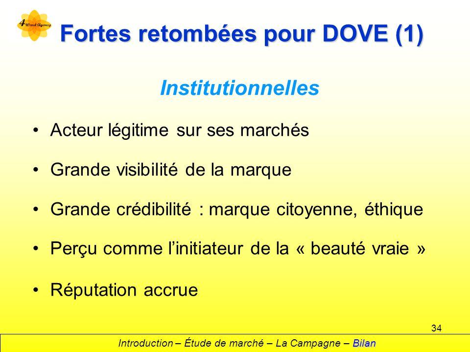 Fortes retombées pour DOVE (1)