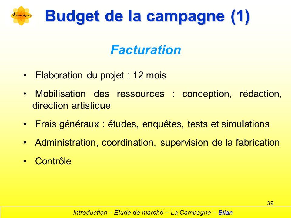 Budget de la campagne (1)