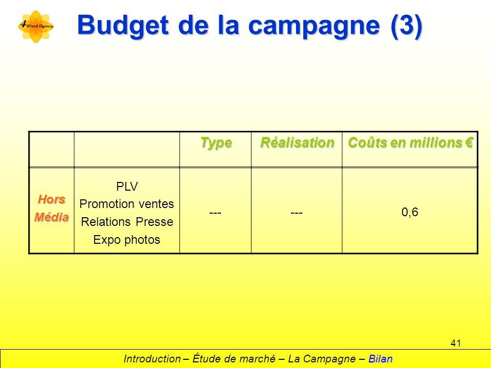 Budget de la campagne (3)