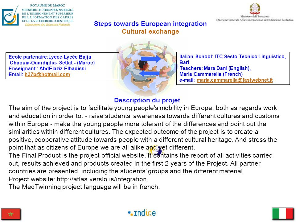 Steps towards European integration