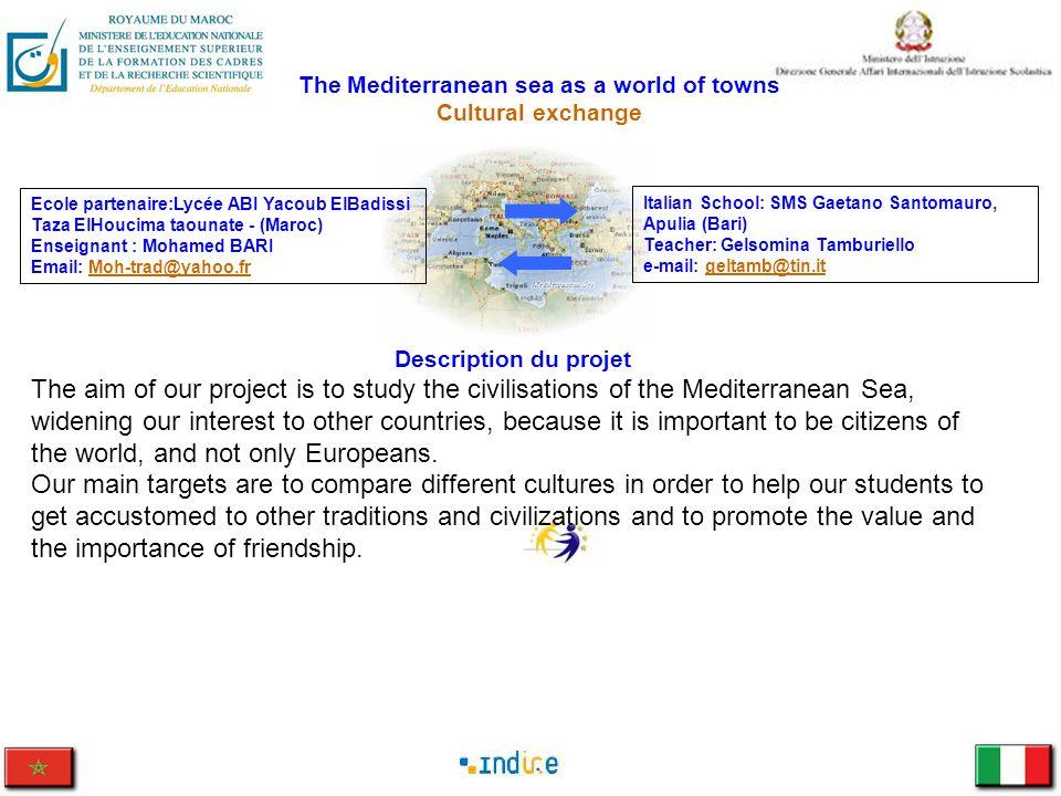 The Mediterranean sea as a world of towns