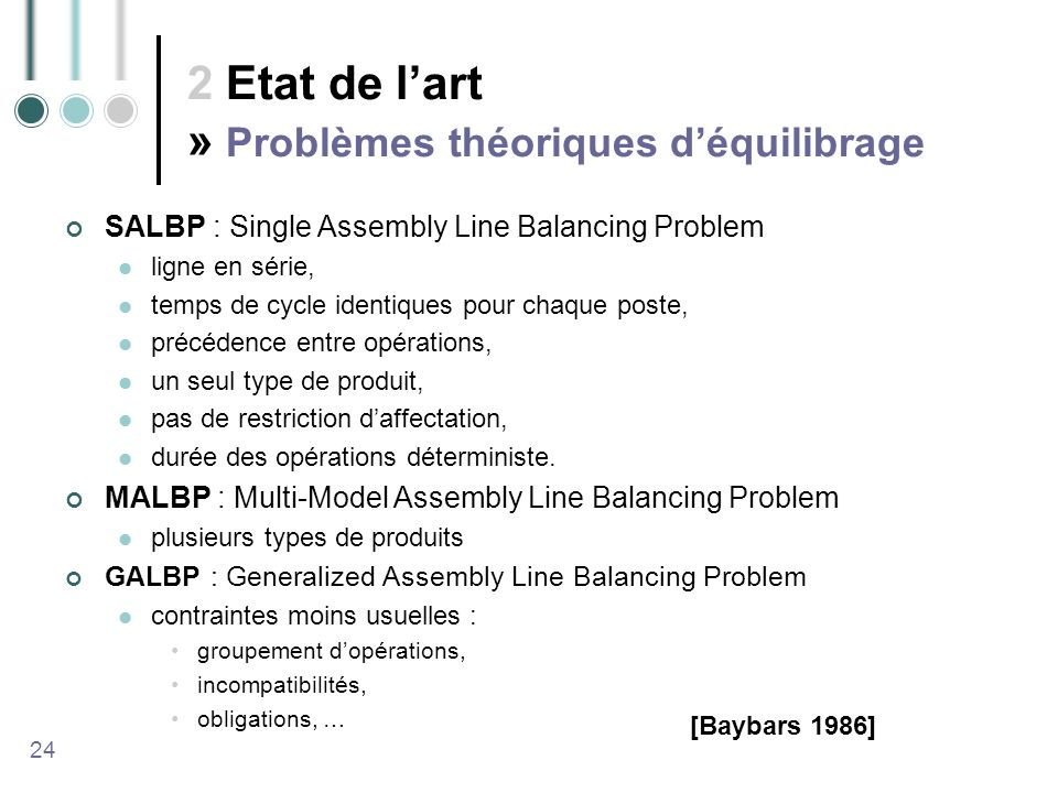 2 Etat de l'art » Problèmes théoriques d'équilibrage