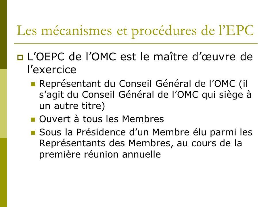 Les mécanismes et procédures de l'EPC