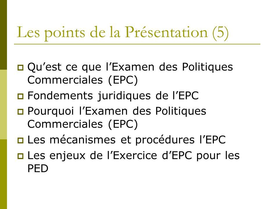 Les points de la Présentation (5)