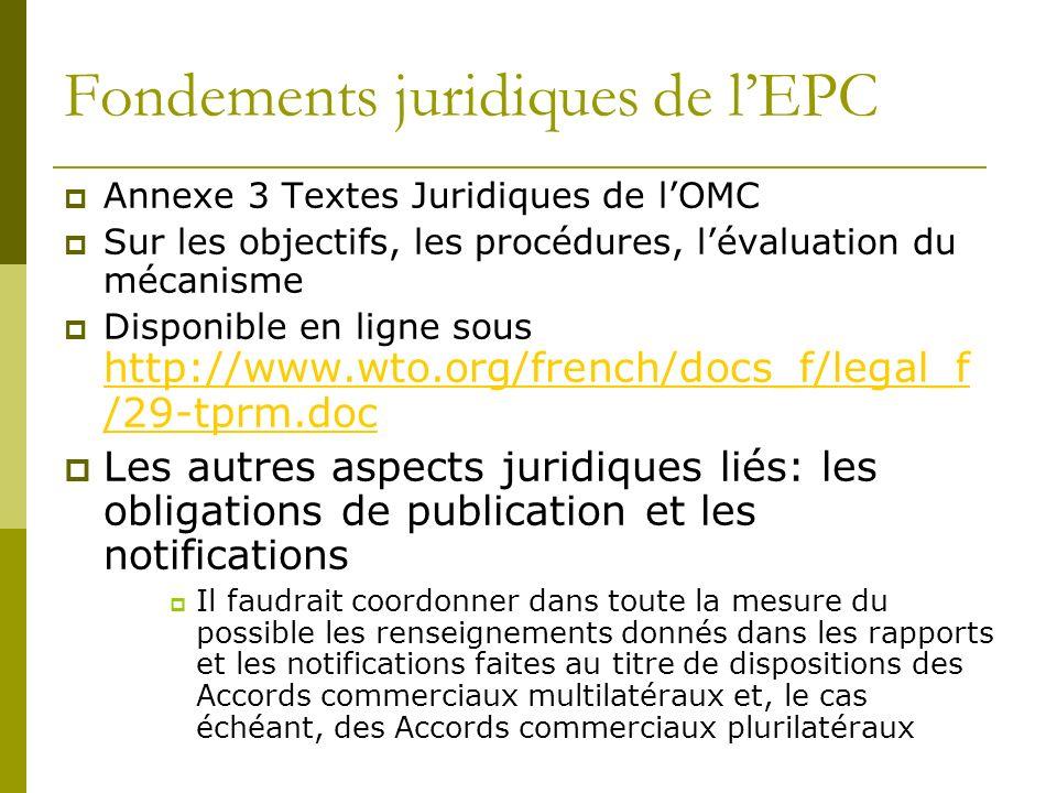Fondements juridiques de l'EPC