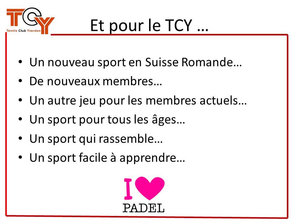 Et pour le TCY … Un nouveau sport en Suisse Romande…