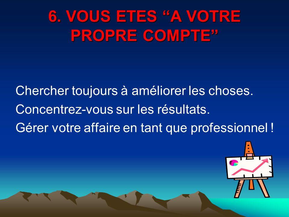 6. VOUS ETES A VOTRE PROPRE COMPTE