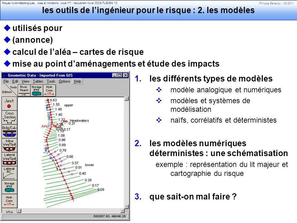 les outils de l'ingénieur pour le risque : 2. les modèles