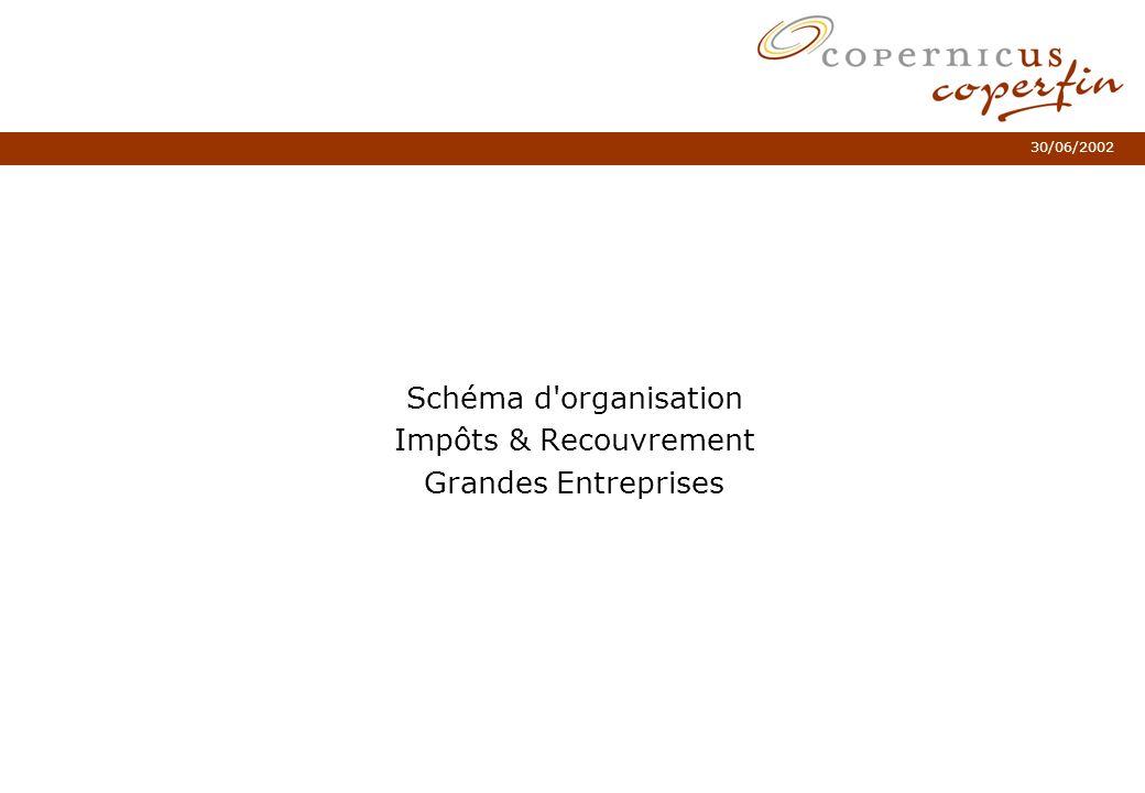 Schéma d organisation Impôts & Recouvrement Grandes Entreprises