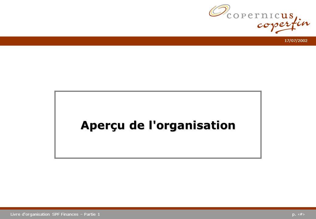 Aperçu de l organisation