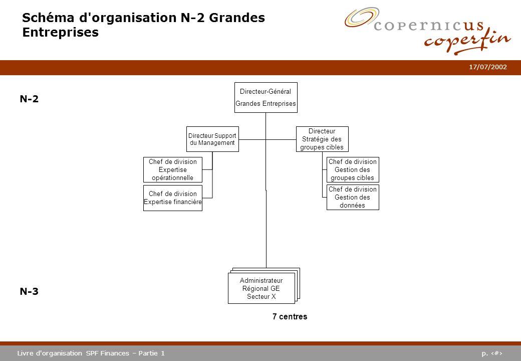 Schéma d organisation N-2 Grandes Entreprises