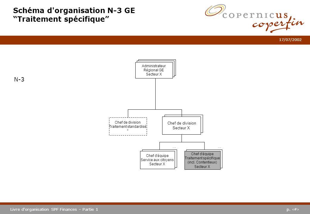 Schéma d organisation N-3 GE Traitement spécifique