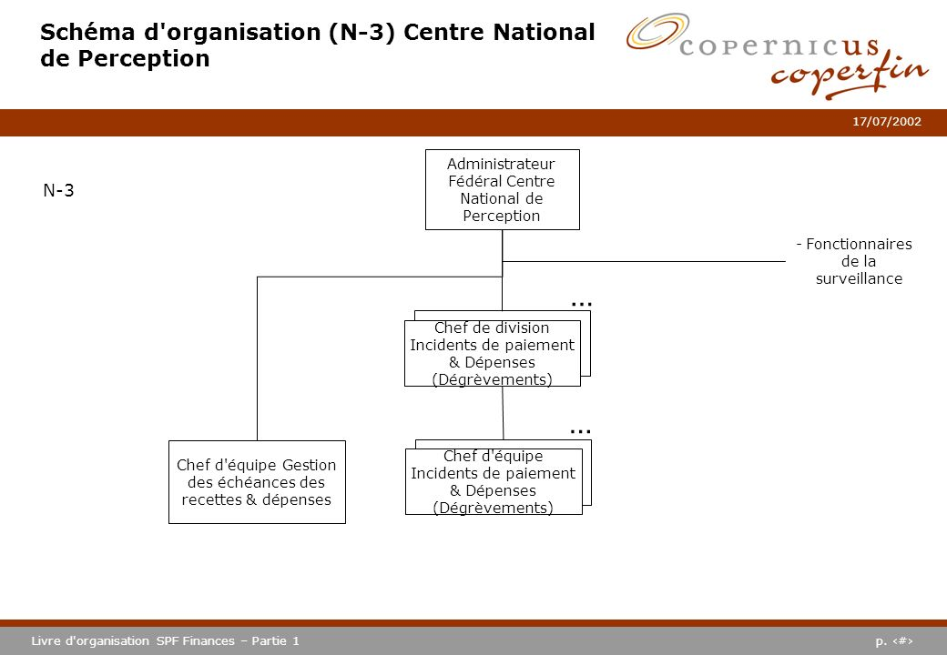 Schéma d organisation (N-3) Centre National de Perception