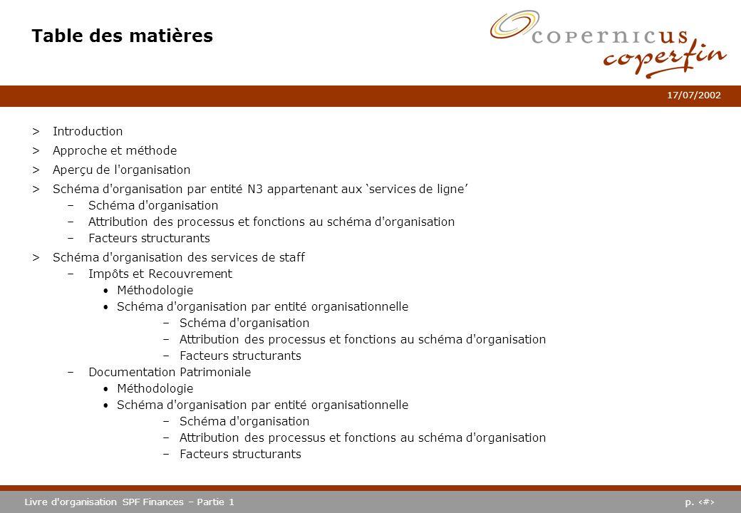 Table des matières Introduction Approche et méthode