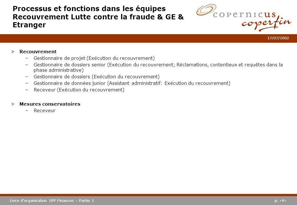 Processus et fonctions dans les équipes Recouvrement Lutte contre la fraude & GE & Etranger