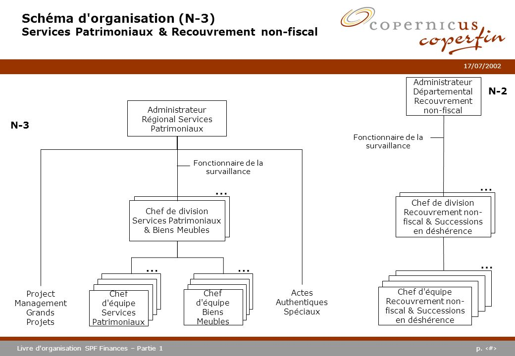 Schéma d organisation (N-3) Services Patrimoniaux & Recouvrement non-fiscal