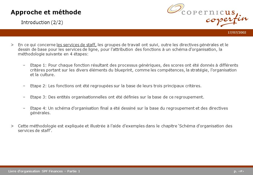 Approche et méthode Introduction (2/2)