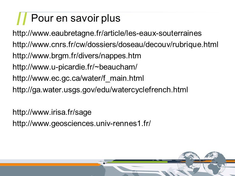 Pour en savoir plus http://www.eaubretagne.fr/article/les-eaux-souterraines. http://www.cnrs.fr/cw/dossiers/doseau/decouv/rubrique.html.