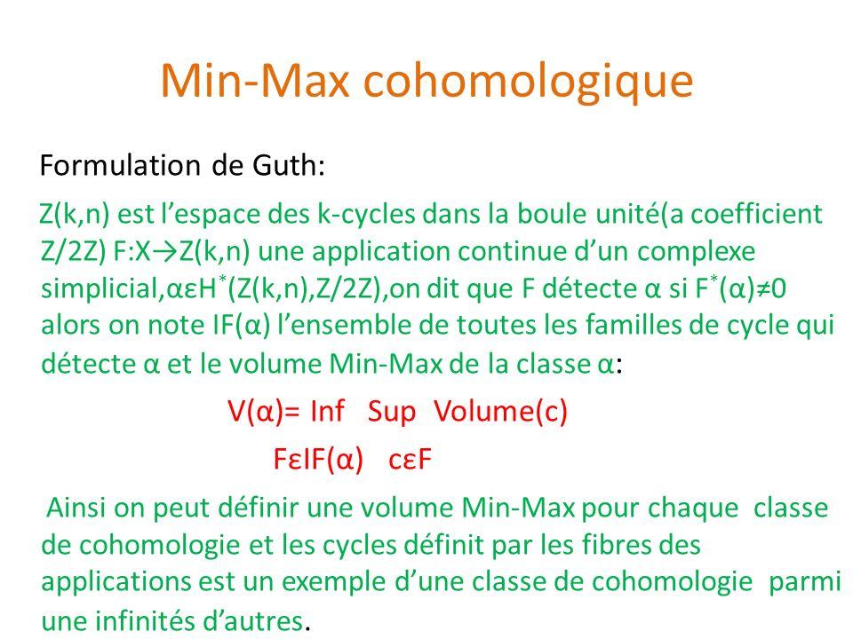 Min-Max cohomologique