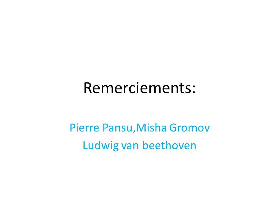 Pierre Pansu,Misha Gromov Ludwig van beethoven