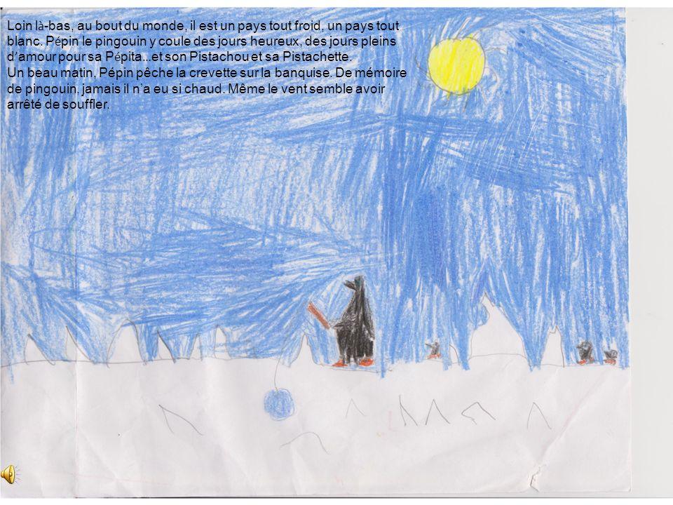 Loin là-bas, au bout du monde, il est un pays tout froid, un pays tout blanc. Pépin le pingouin y coule des jours heureux, des jours pleins d'amour pour sa Pépita…et son Pistachou et sa Pistachette.