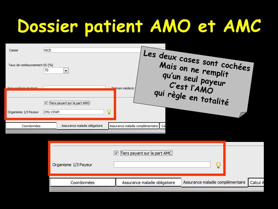 Dossier patient AMO et AMC