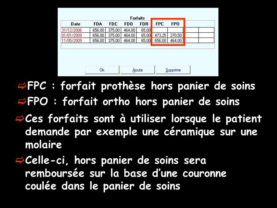 FPC : forfait prothèse hors panier de soins