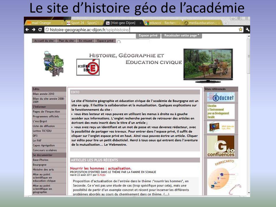 Le site d'histoire géo de l'académie de DijonLe site académique