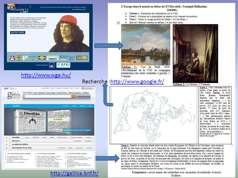 http://www.wga.hu/ Recherche :http://www.google.fr/ http://gallica.bnf.fr/