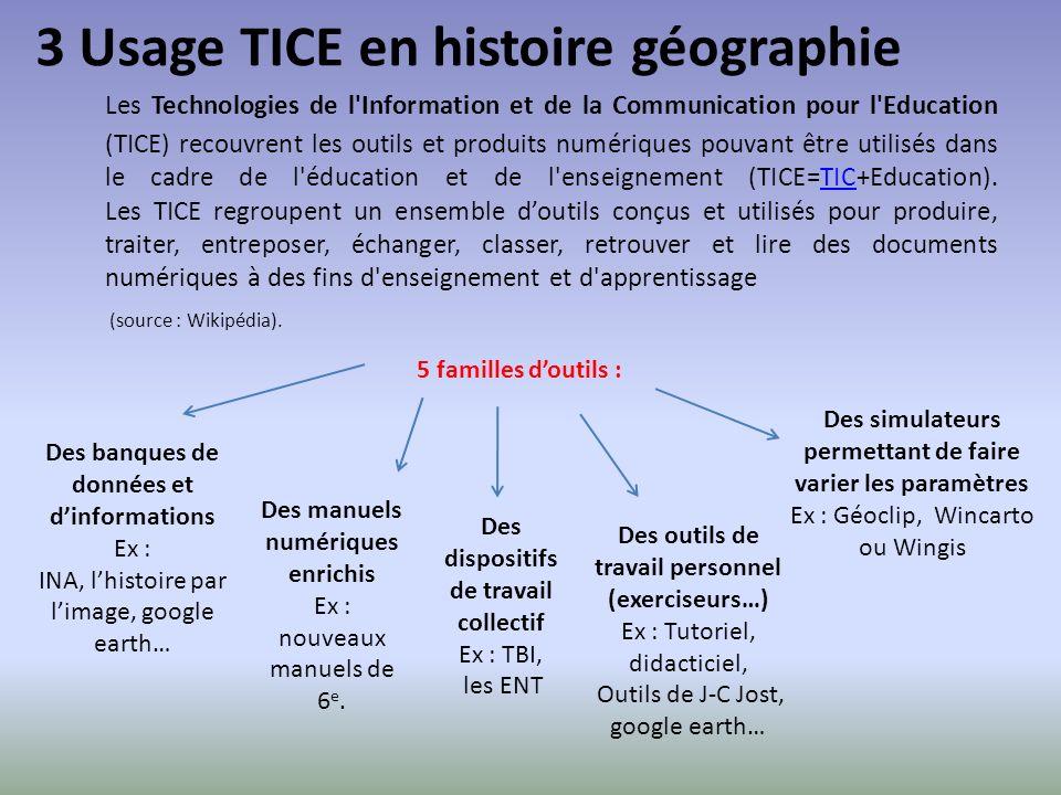 3 Usage TICE en histoire géographie