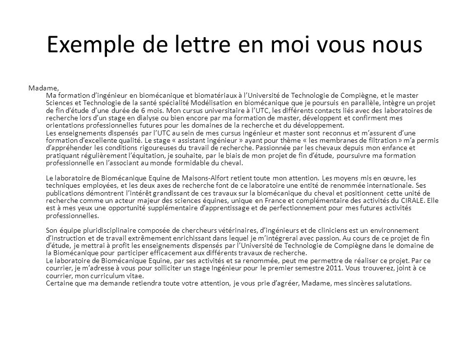 exemple lettre de motivation nous