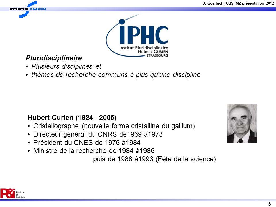 Pluridisciplinaire Plusieurs disciplines et. thèmes de recherche communs à plus qu'une discipline.