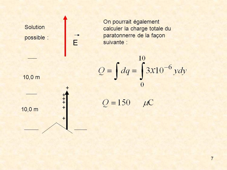 On pourrait également calculer la charge totale du paratonnerre de la façon suivante :