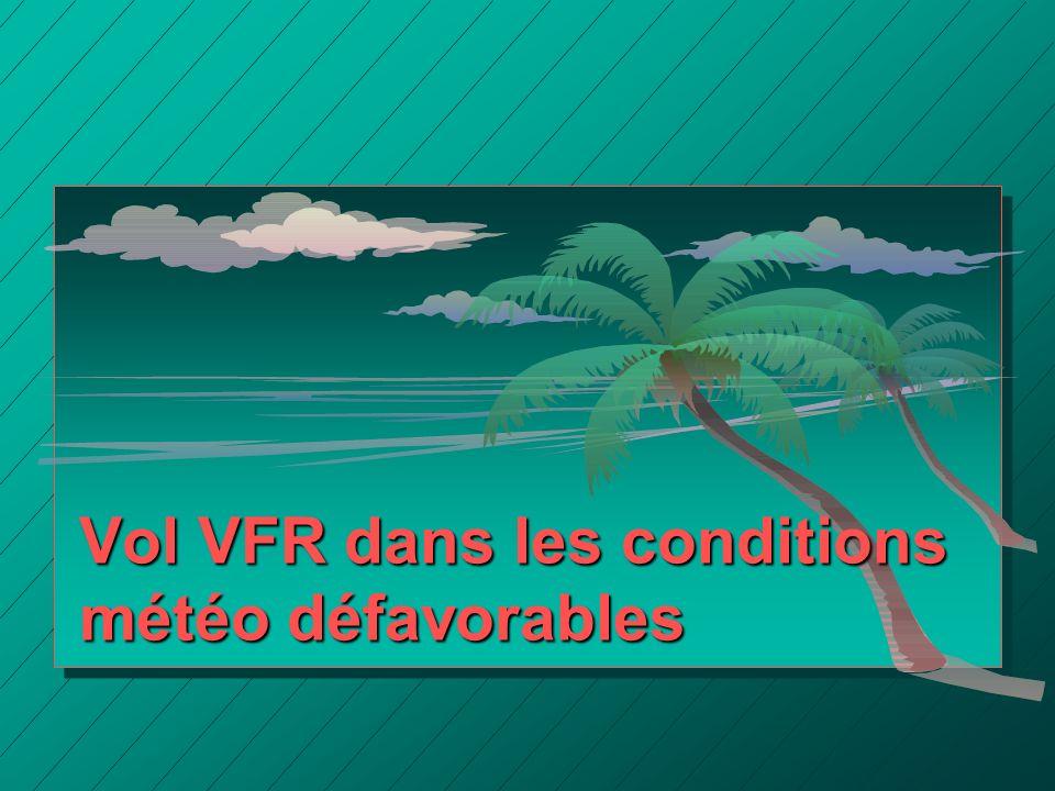 Vol VFR dans les conditions météo défavorables