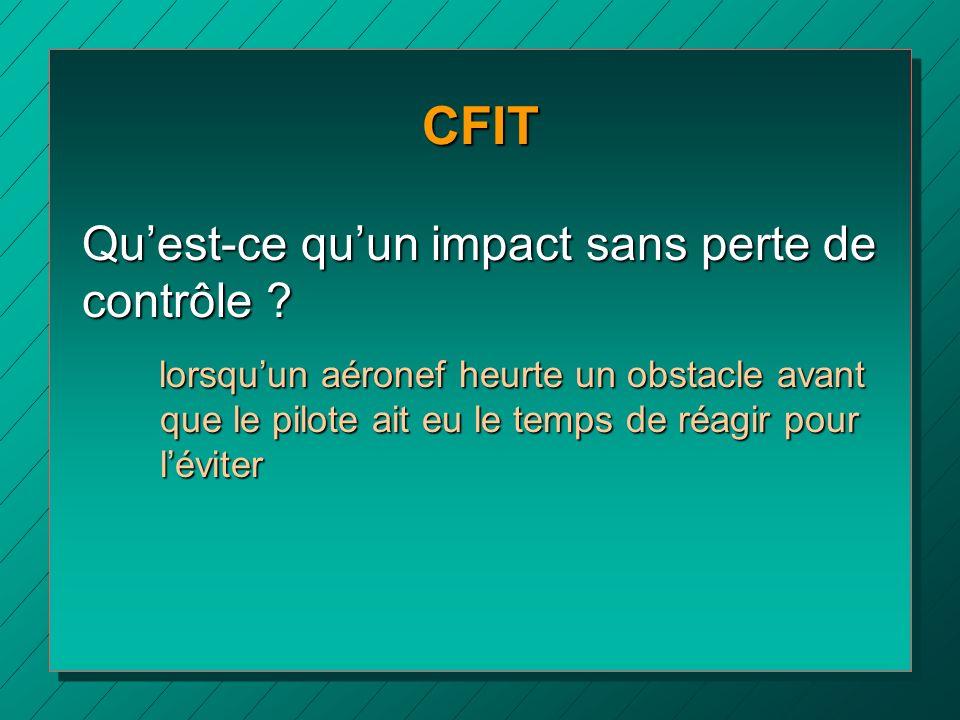 CFIT Qu'est-ce qu'un impact sans perte de contrôle