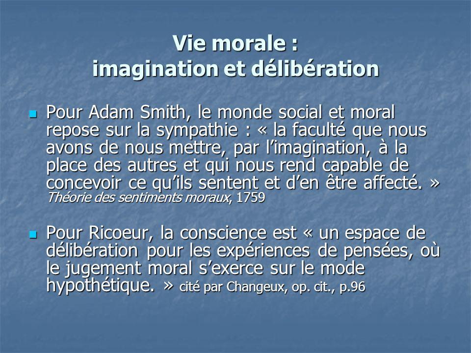 Vie morale : imagination et délibération