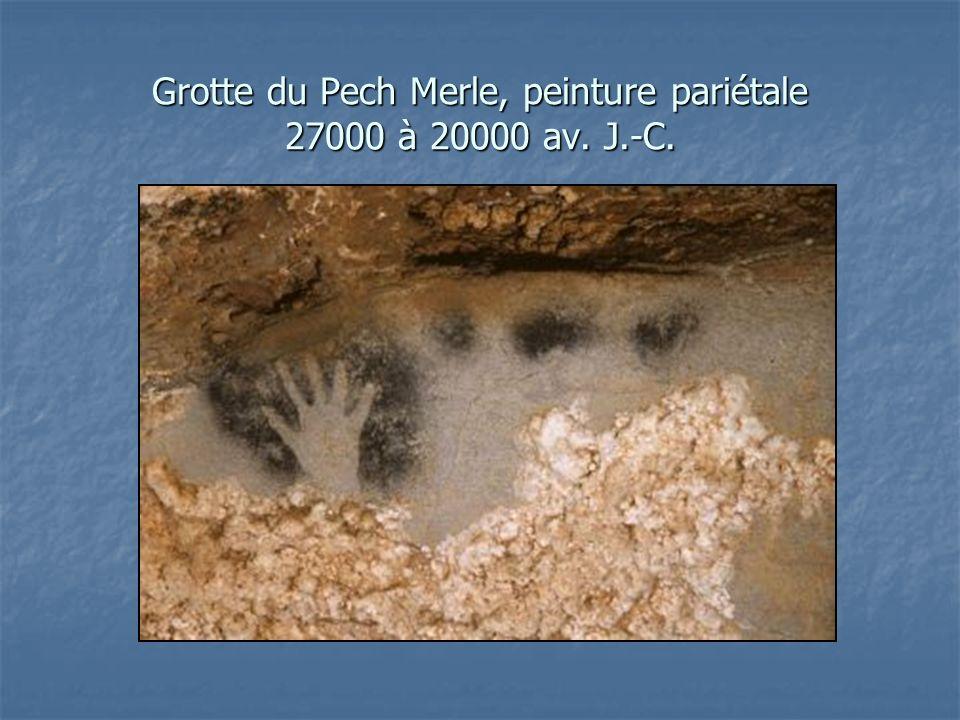 Grotte du Pech Merle, peinture pariétale 27000 à 20000 av. J.-C.