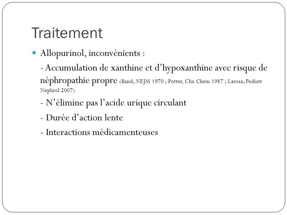 Traitement Allopurinol, inconvénients :