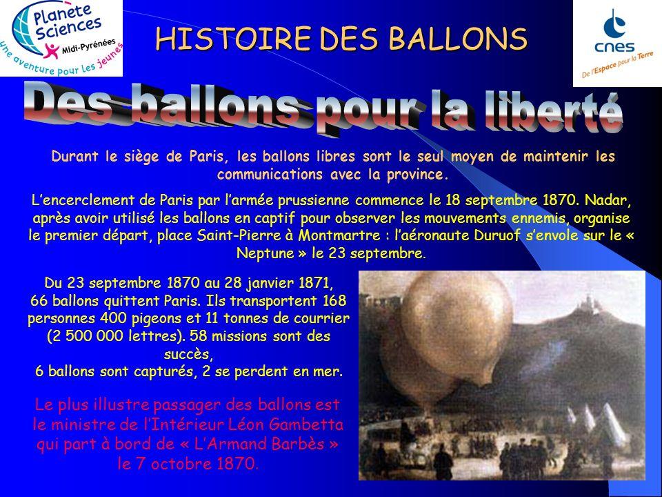 Des ballons pour la liberté