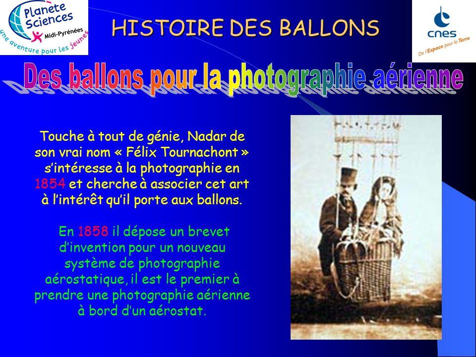 Des ballons pour la photographie aérienne