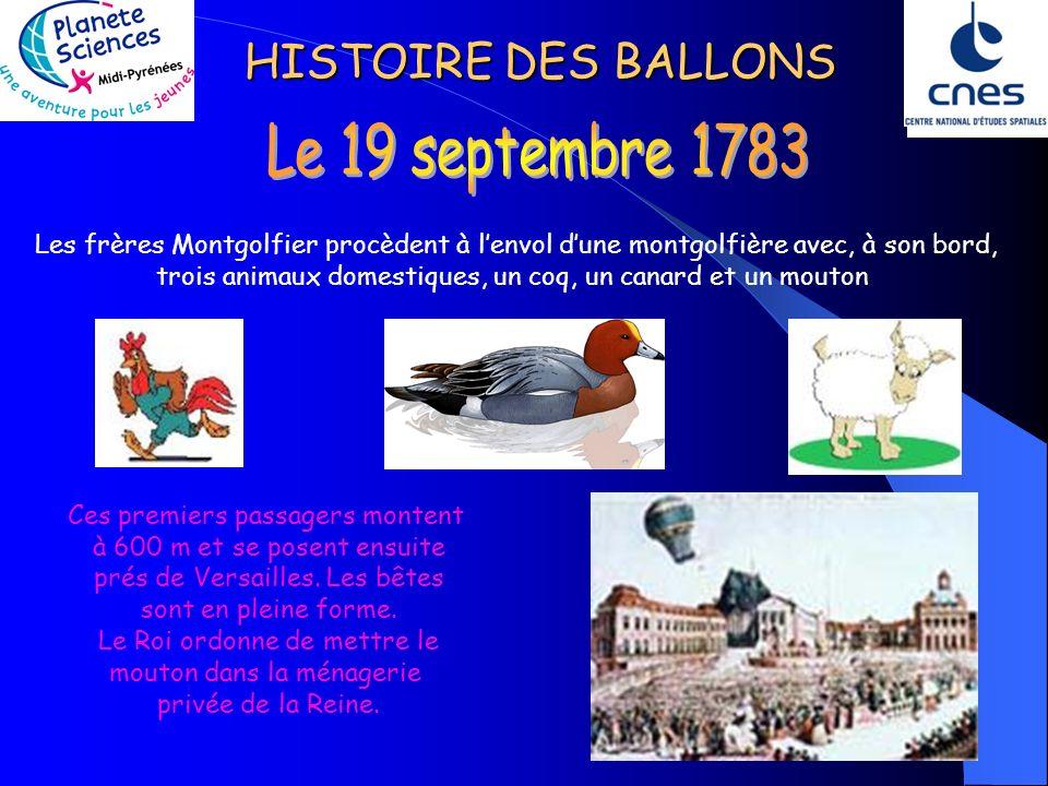 Le 19 septembre 1783