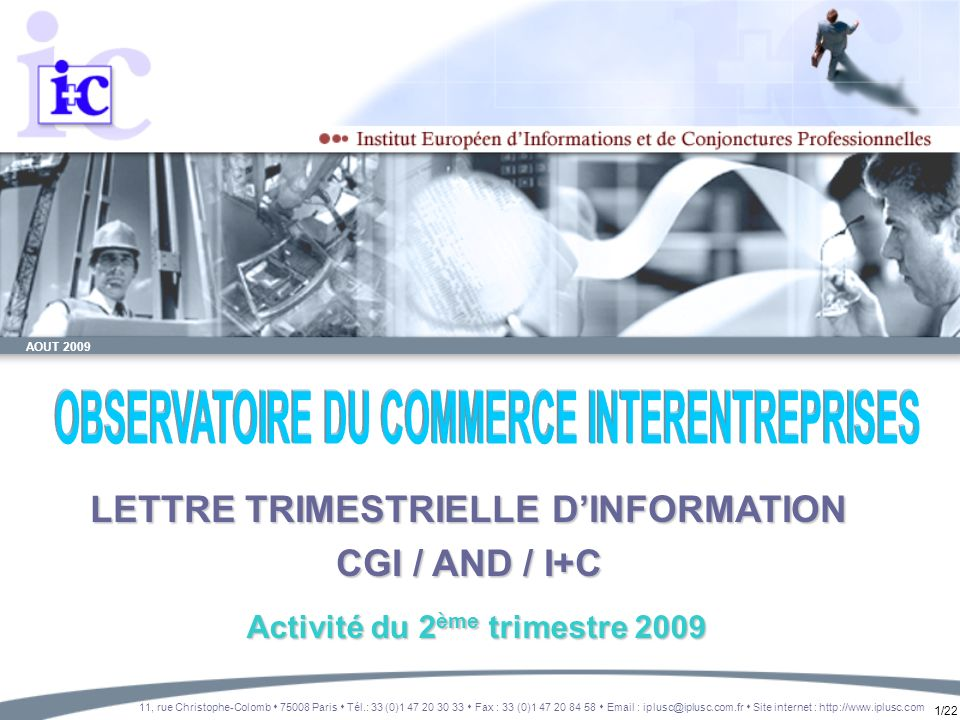 OBSERVATOIRE DU COMMERCE INTERENTREPRISES