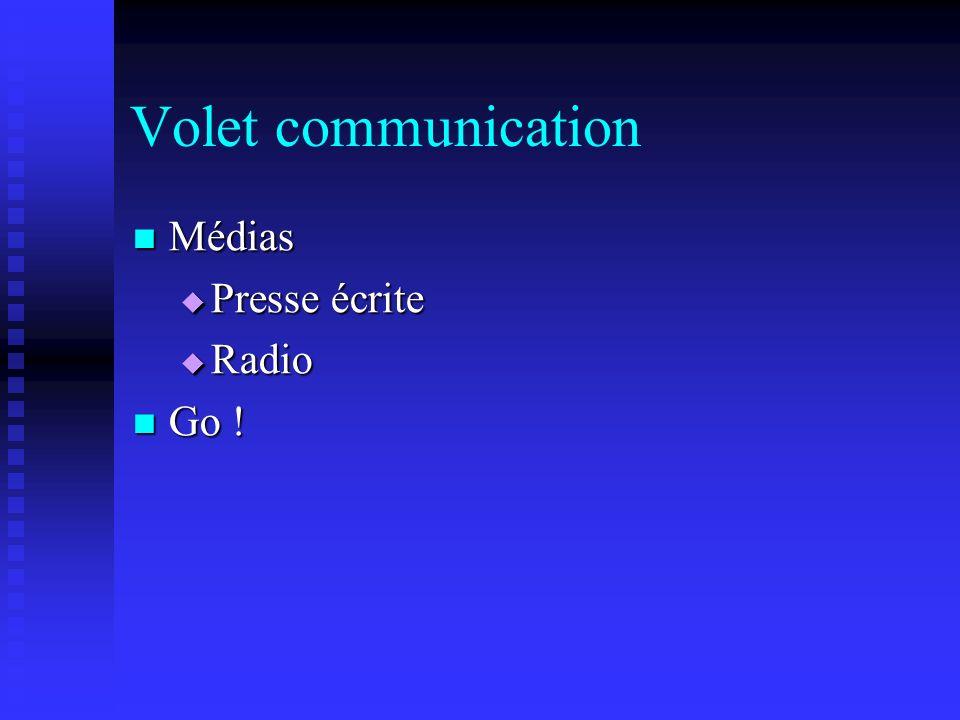 Volet communication Médias Presse écrite Radio Go !