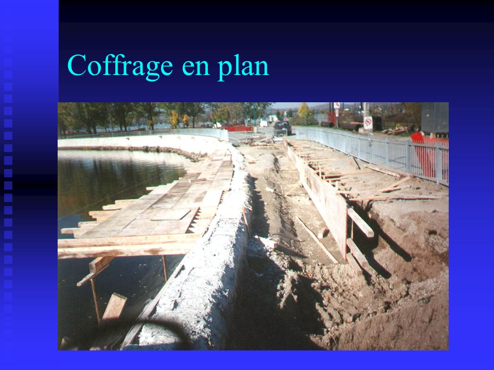Coffrage en plan