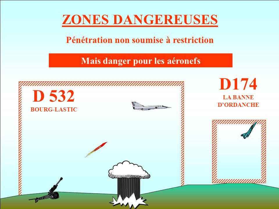 Pénétration non soumise à restriction Mais danger pour les aéronefs